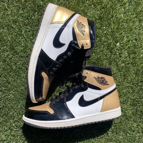 Jordan Other - Air jordan 1 gold toes